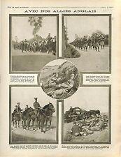 Soldiers British Army Scots Guards Red Cross Tirailleurs Sénégalais War 1914 WWI