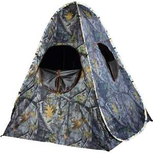 Pop Up Hunting Blind Camo Camouflage Taffeta One Man