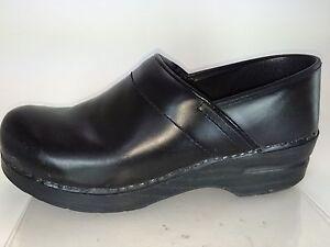 Image Is Loading Dansko Ebony Black Oiled Full Grain Leather Professional