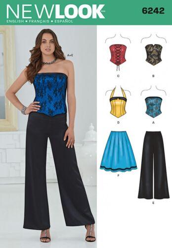 New Look Ladies Sewing Pattern 6242 Corset Tops ... Skirt /& Wide Leg Pants
