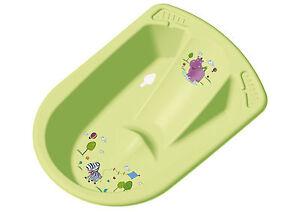 Vasca Da Bagno Bloccata : Anatomiche vasca da bagno neonato con spine hippo verde per ebay