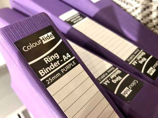 2-Ring Binder 25mm 200-A4 sheets $2 For 1, $12 for 8