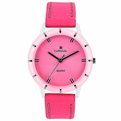 CARNIVAL ANALOG LEATHER WATCH FOR WOMEN-B005LF01
