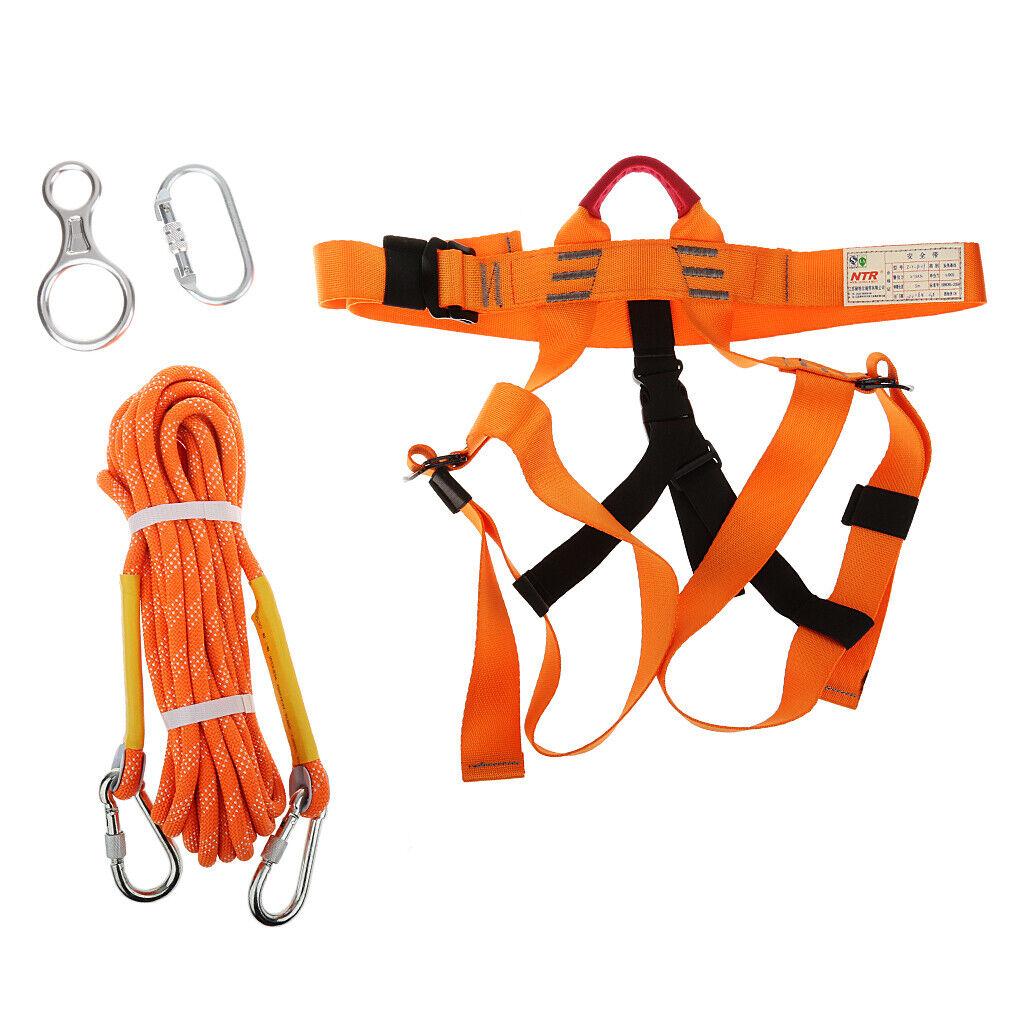 Set Karabiner Kletterseil Bergseil Klettergurte Sicherheitsgurt für Outdoor