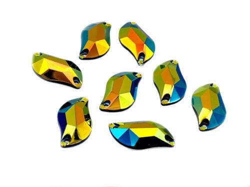 Forma casuale resina cristalli eimass ® cucire o colla per Gemme Piatto Indietro