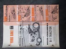 Allis Chalmers Model B 1 Tractor York Rake Model Rm Brochure And Parts List