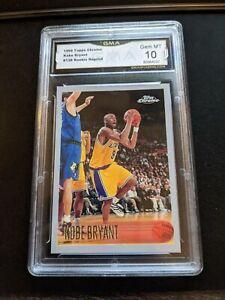 1996-97 Topps Chrome 138 Kobe Bryant Rookie Reprint LA Lakers RC Gem Mint GMA 10