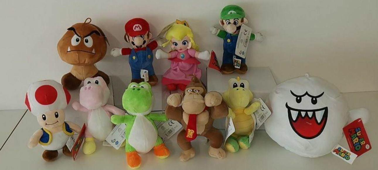 Complete collection 10 Plush Super Mario Bros Original Toad Koopa Luigi 20cm