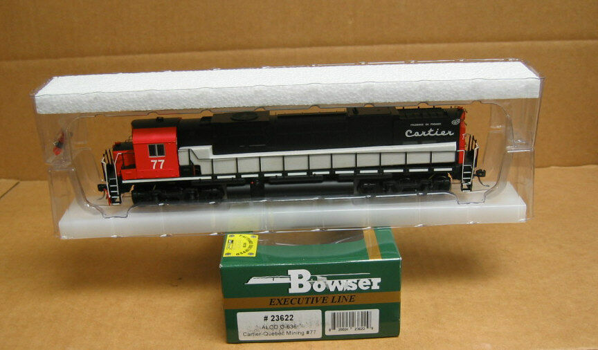 Bowser 23622 HO autotier Quebec Mining ALCO C-636  77 77 77 (DCC & Lok suono) bbdc4f