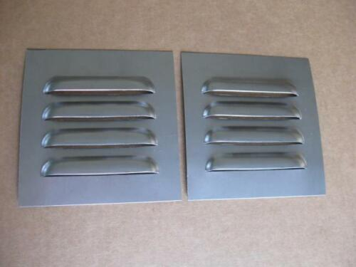 "5/"" Pair Straight Louvered Panels 4 louvers ea Cooling Weld-in by RodLouvers"