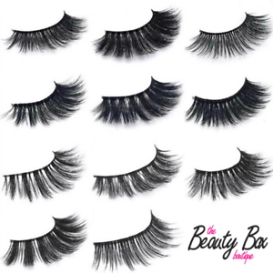 9951719847b 100% 3D Mink Eyelashes - Long Natural Thick Handmade False Fake Eye ...