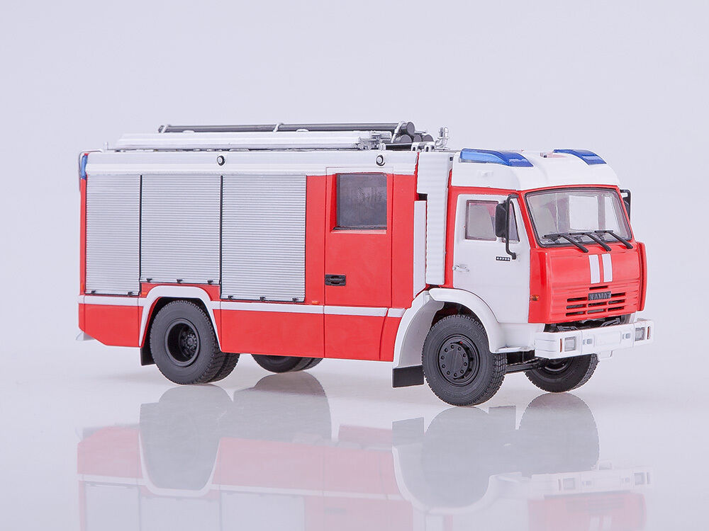 KAMAZ 43253 AC-3,2-40 Fire truck Dealer model Kamaz  CarHistory 102019 1 43