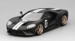 Ford Gt Heritage Edition Noir Mat 2017 1:43 Modèle True Scale Miniatures