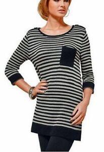 buy online 69e78 0cce1 Details zu Streifen Pullover Gr. 40/42 Pulli long 732706 Neue Top Damenmode!