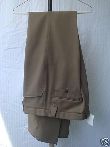 32 Waist New Mens Western Wear Pant Brown 100% Poly Gab