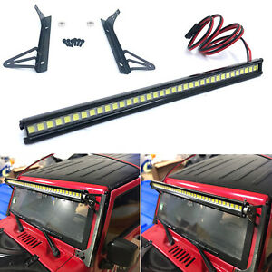 LED-Licht-Bar-Metall-Roof-Lamp-Strip-fuer-1-10-Axial-SCX10-90046-Jeep-Wrangler