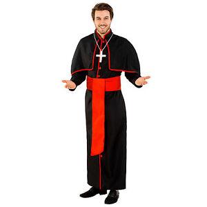 MÖNCH KOSTÜM Priester Pfarrer Fasching Karneval Gr L