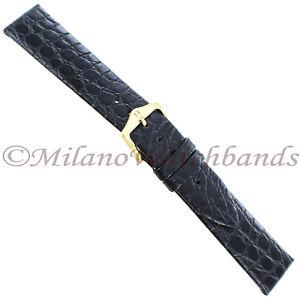 19mm-Hirsch-Black-Matte-Genuine-Classic-Alligator-Unstitched-Mens-Watch-Band-Reg