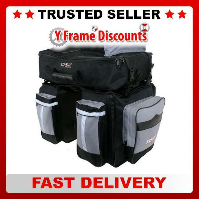 M-Wave Triple 62L Pannier Traveller day bike Cycle Bag