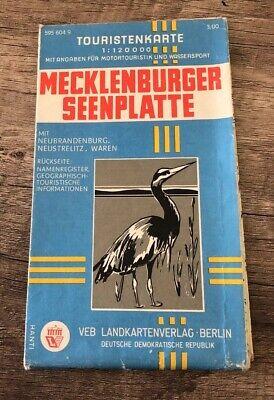 Alt Mecklenburger Seenplatte Touristenkarte Landkarte Reiseführer Wanderkarte Y8