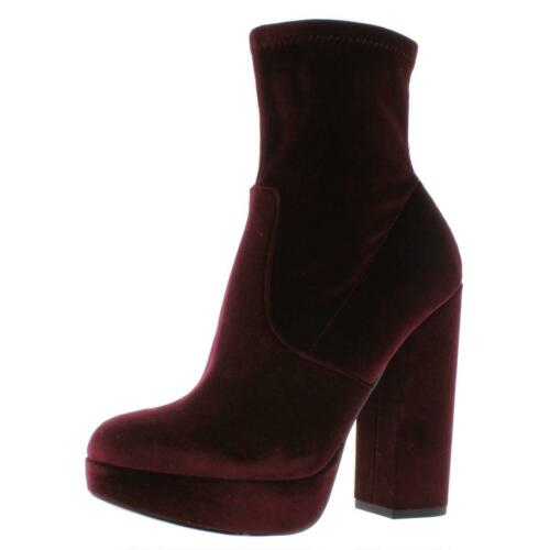 Steve Madden Womens Stardust Red Platform Boots Shoes 6.5 Medium BHFO 3005 B,M