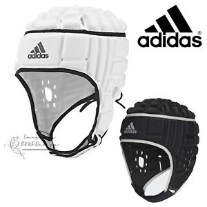 1bb83336ff803 Image is loading adidas-Rugby-Headguard-White-Black-Head-Protective-Gear-