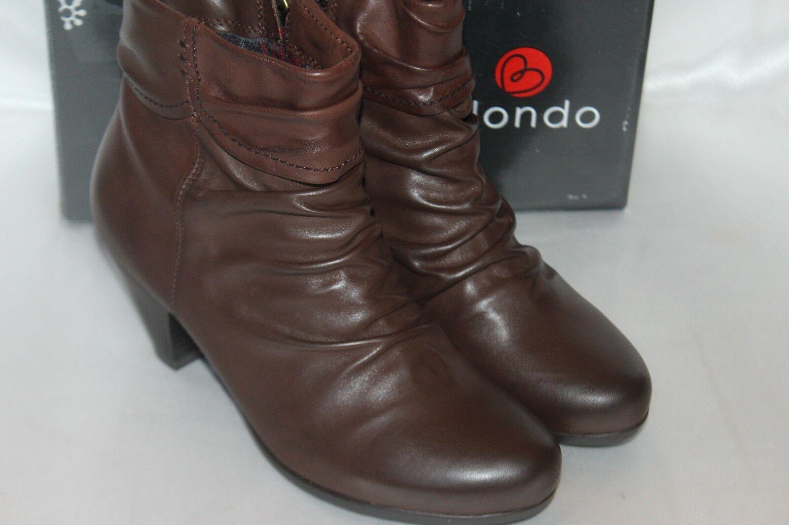 NEW! NIB! BLONDO Med Waterproof Brown Waterproof Med Pelle DIVA Ankle Stivali Sz 9.5  170 4ff5de