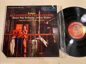 Boston Pops Arthur Fiedler Slaughter On Tenth Avenue LP RCA Shaded Dog 6s/7s M-
