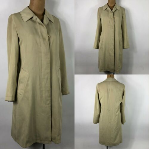 Burberry London Tan Raincoat Women's Nova Check Pr