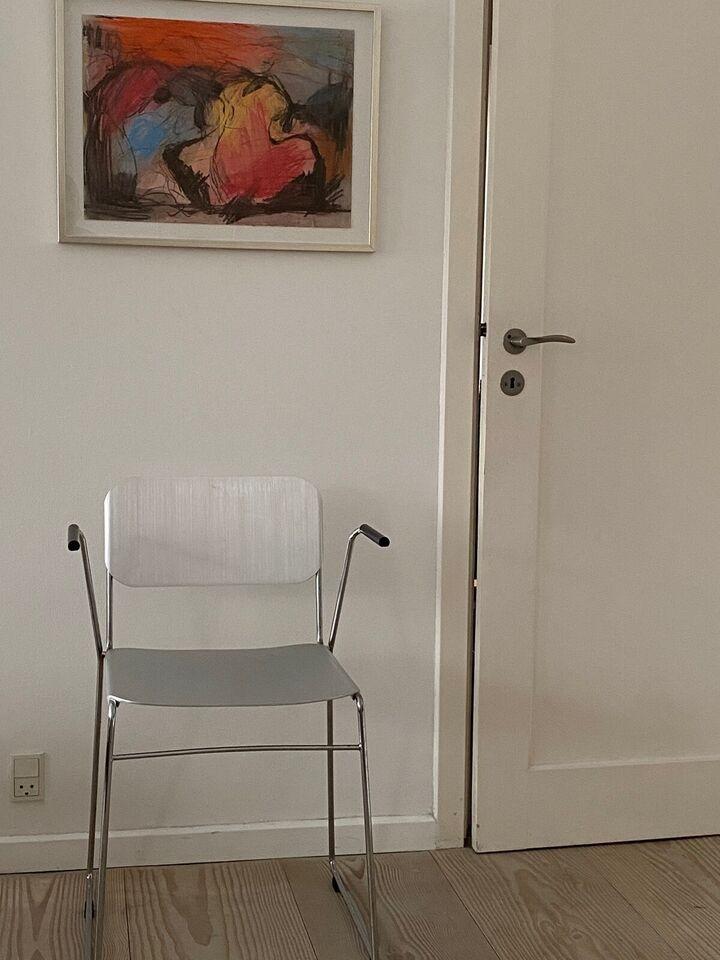 Spisebordsstol, Aluminium og forkromet stål, Eurobib