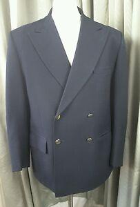 Vintage Blazer nero 70s Gieves Hawkes doppiopetto Savile Row 42s SUzxRqw