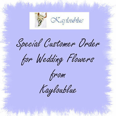 WEDDING FLOWER ORDER FOR LORPHIL 1956 ONLY