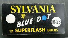 Sylvania M-2B Blue Dot Flashbulbs M2B Superflash 9 Bulbs