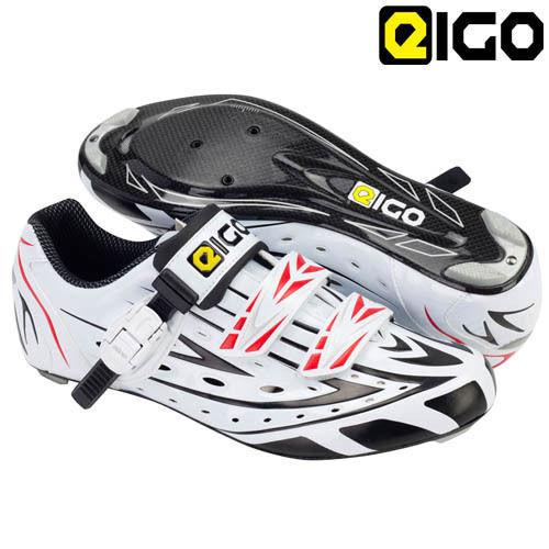 EIGO SIGMA Carbon Sole Road Schuhe With Ratchet - And Velcro Closure - Ratchet Weiß 0c71d8
