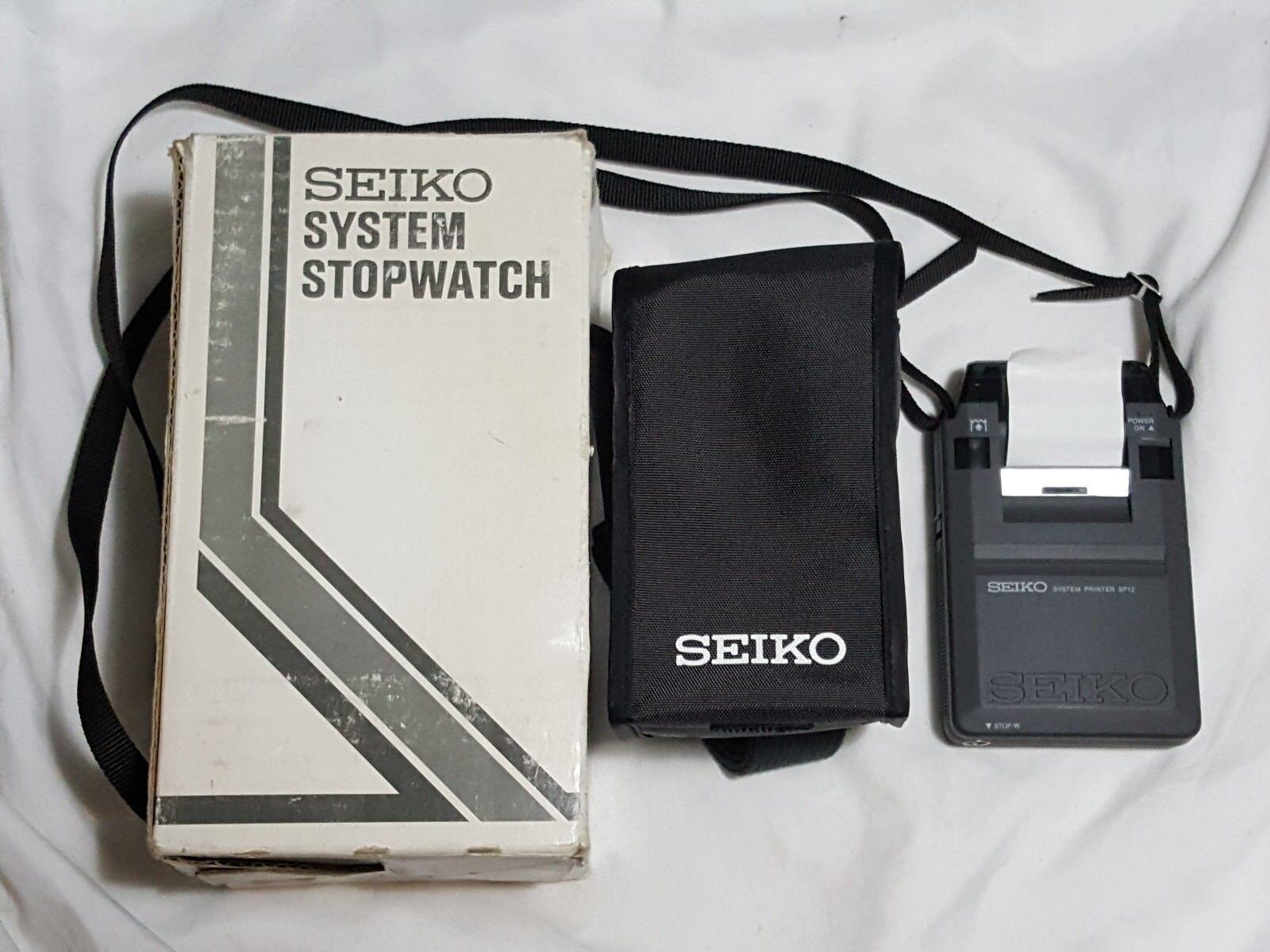 Seiko System Printer SP12 w  Case & Strap Stopwatch Printer sp 12 sp12-02 print