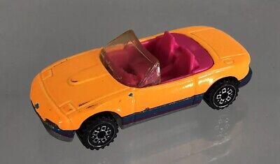 Vintage Hot Wheels 1990 Mazda Miata Convertible Orange Pink Interior Cast Car Ebay