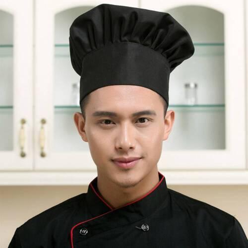 Cook Adjustable Men Kitchen Baker Chef Elastic Cap Hat Catering Comfortable n