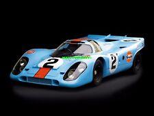 VINTAGE 1970 PORSCHE 917 LE MANS RACE CAR POSTER ART Fabric HD PRINT #618