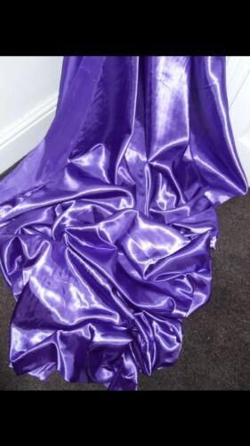 3 Mtr Cadbury púrpura forro de satén de Tela.. 58 pulgadas de ancho