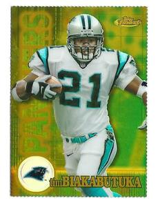 d078b61ae Image is loading 2000-Finest-Gold-Refractor-77-Tim-Biakabutuka-Panthers-