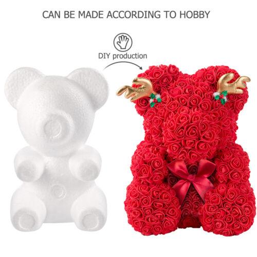 2St DIY Schaumbären Modellierung Polystyrol Styropor Schaum Bär Form Craft Balls