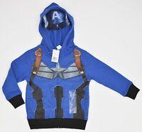 Costco Marvel Captain America Mask Costume Hoodie Boys 4t Blue 5945