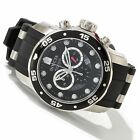 Invicta 6977 Men's Black Dial Steel and Rubber Strap Chronograph Watch