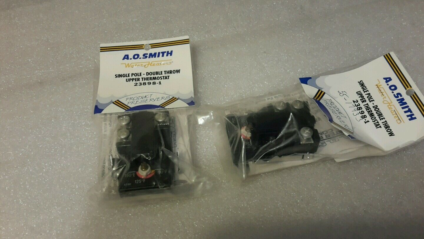 A.O SMITH 23898-1 SINGLE POLE UPPER THERMOSTAT DOUBLE THROW (LOT OF 2) NEW  59
