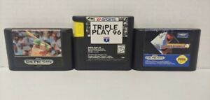 MLB Baseball TRIPLE PLAY 96, CLEMENS Sports Talk Sega Genesis Working 3 Game Lot