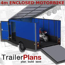 Trailer Plans - 4m ENCLOSED MOTORBIKE TRAILER - PRINTED HARDCOPY