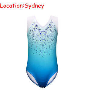 3-12Y Girls Ballet Leotard Gymnastics Kids Dancewear Bodysuits Sports Costumes