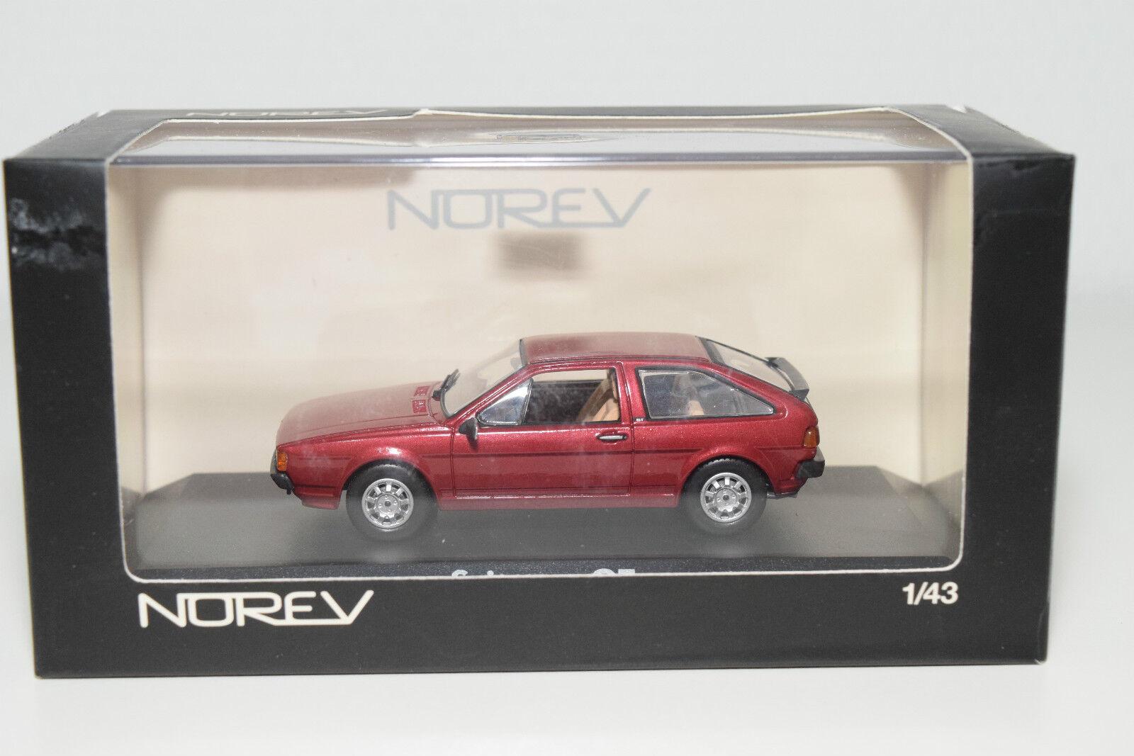 . NOREV 840086 VW VOLKSWAGEN SCIROCCO 2 GT 19880 RUBINrouge MAROON MINT BOXED