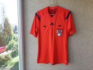 Details about REFEREE FOOTBALL SHIRT ADIDAS RED SWITZERLAND 2012/2014 JERSEY M SOCCER