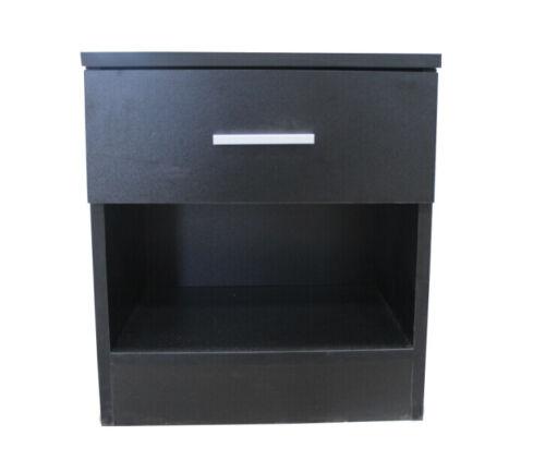 Bedside Cabinet 1 Drawer Metal Handles, Bedroom Furniture Runners